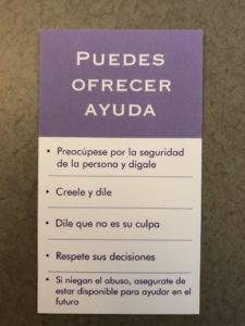 Wallet Card- Spanish